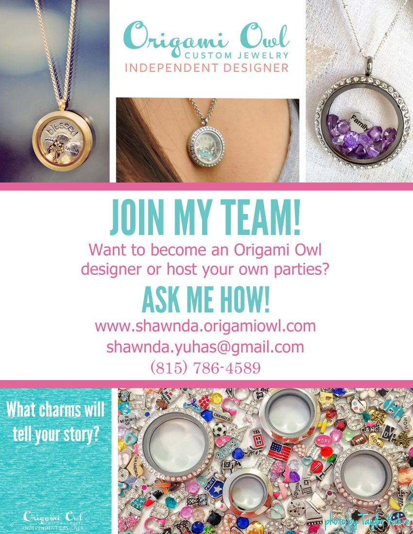 Origami Owl Flyer Design - Example of our work to promote a business