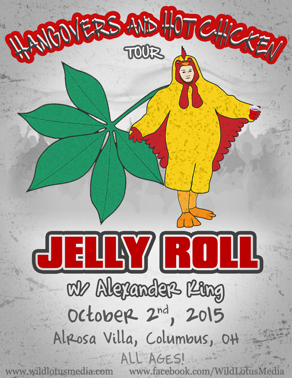 Jelly Roll Hangovers and Hot ChickenTour Poster - Example of Our Graphic Design for Flyers